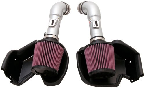 K&N Performance Air Intake Kit 69-7078TS with Metal Tube and Lifetime Red Oiled Filter for Infiniti G37, Nissan 370Z 3.7L V6 - Infiniti G37 Intake