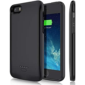 Amazon.com: iPhone 5 5S SE Battery Case, 4000mAh Protective ...