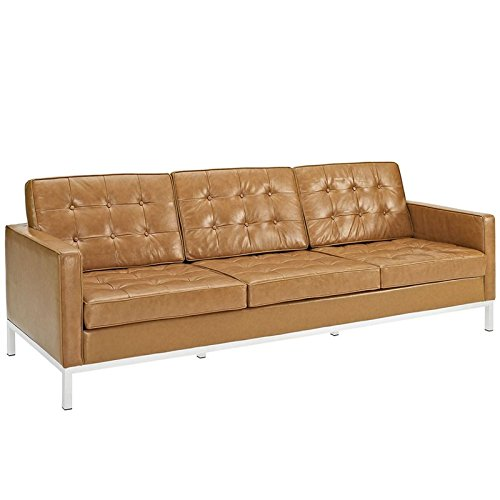 LexMod Loft Leather Sofa in - Leather Set Sofa Loft