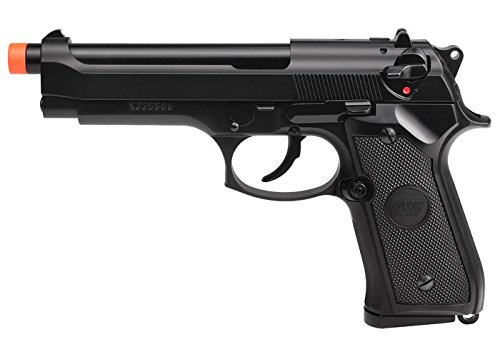 ASG M9 Gas Powered Airsoft Pistol with Blowback, Black Black Gas Pistol