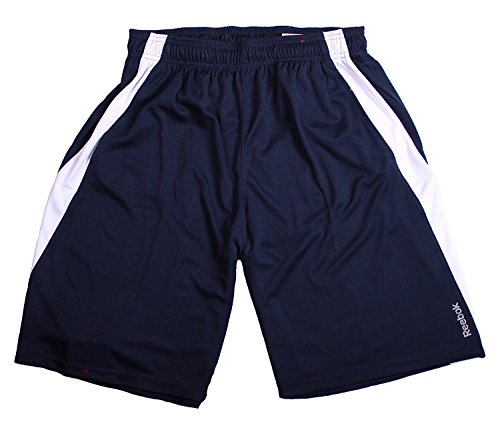 Reebok Mens Breathable Mesh Sport Athletic Shorts (Large, Navy -