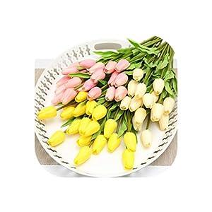 31Pcs/Lot Artificial Tulips Flowers Pu Bridal Bouquet Wedding Farmhouse Decor Mothers Day Decoration Real Touch Flower 13