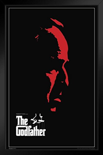 Pyramid America The Godfather Red Face Framed Poster 14x20 inch