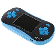 MonkeyJack RS-16 2.5 inch LCD Compact Classic Game Machine Handheld Video Game Player with 260 Retro Games + Screwdriver Tool Blue