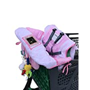 Hi Mom 2 in 1 Baby shopping Cart Cover for supermarket or high chair, choose your color! Light blue or Pink available, comfortable design, easy to carry, transform it into a bag.