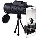 Ocamo 40X60 BAK4 Monocular Telescope HD Mini Monocular for Outdoor Hunting Camping with Phone Clip