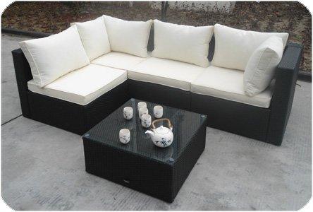 Rattan lounge  Amazon.de: AJ's Garden RIVERSIDE / Farbe braun Poly-Rattan ...