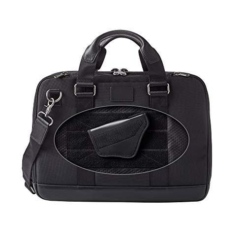 Ballistic Nylon Carry Case - Dalys1895 Concealed Carry Briefcase Travel Bag/Laptop Bag, Leather and 1680 Ballistic Nylon