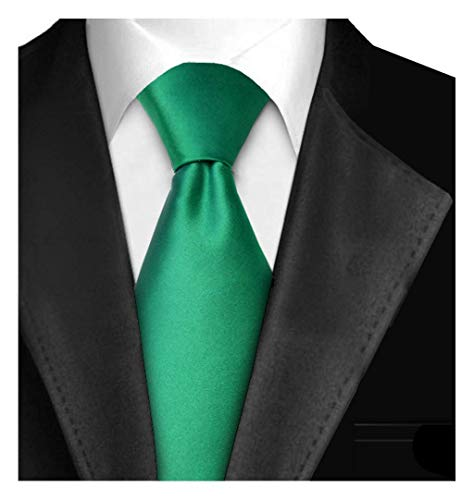 Tie Satin Silk Dress (Ties For Men Necktie 3in Satin Finish Handmade Neck Tie With Gift Box Solid Color - Aqua Green)