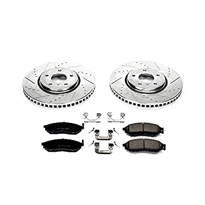 Power Stop K5264 Front Brake Kit with Drilled/Slotted Brake Rotors and Z23 Evolution Ceramic Brake Pads: Automotive