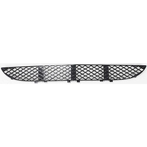 Evan-Fischer EVA22472028542 Bumper Grille for Mercedes Benz E-Class 00-02 Front Center Black (210) Chassis (2000 Mercedes Chassis)