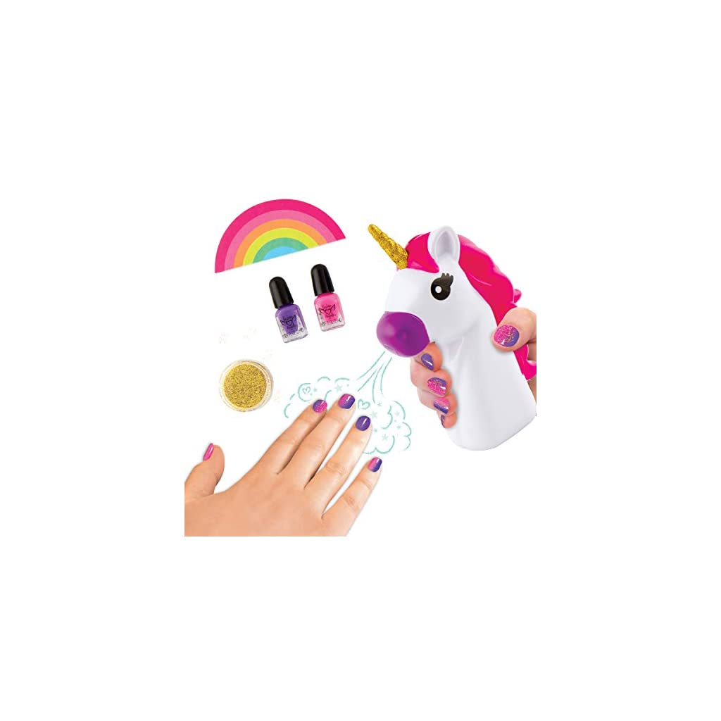Fashion Angels Unicorn Magic Nail Dryer Set 12128 Nail Gift Set For Girls Ages 8 And Up Brown A Unicorn Rainbow Shop