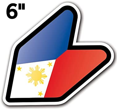 Philippine Flag JDM Design Car Vinyl Decals//Stickers