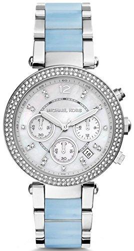 Ladies Two Tone Quartz Watch (Michael Kors Parker Silver Dial Two-Tone SS Multi Quartz Ladies Watch MK6138)