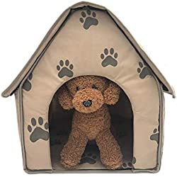 Dog House,DREAMALVA Per Detachable and Foldable Small Footprint Pet House Portable Warm and Comfortable Pet Cave Cage