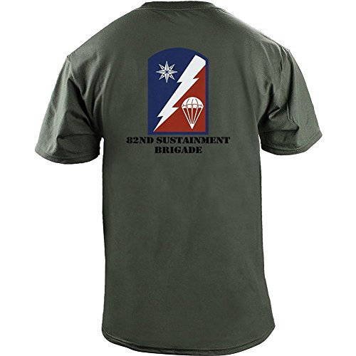 Brigade Fitted T-shirt - Army 82nd Sustainment Brigade Veteran Full Color T-Shirt (XL, Green)