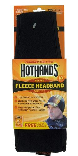 Heatmax Heated Fleece Headband (Black) - Heated Ear Muffs