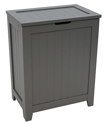 Redmon 5220GY Contemporary Country Hamper, Gray - Quality materials and construction Popular wainscot panels provide simple style Easy assembly instructions included - laundry-room, hampers-baskets, entryway-laundry-room - 41HyqV0wBWL -