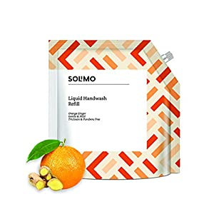 Amazon Brand – Solimo Handwash Liquid Refill, Orange Ginger – 1500 ml