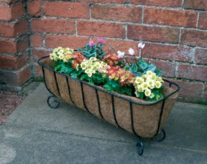 A Pair of charming free standing flower troughs Farm and Garden