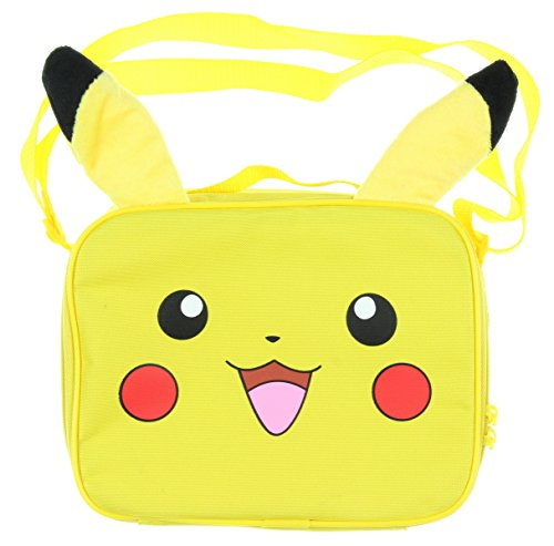 Pokemon Pikachu Lunch Bag with 3D Plush Ear (School Boy Costumes)
