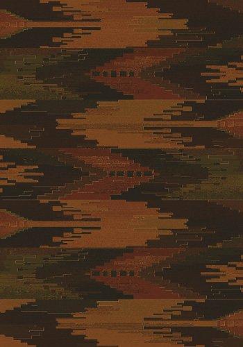 United Weavers of America Genesis Collection Abilene Heavyweight Heat Set Olefin Rug, 1-Feet 10-Inch by 3-Feet, Lodge - Abilene Furniture Set