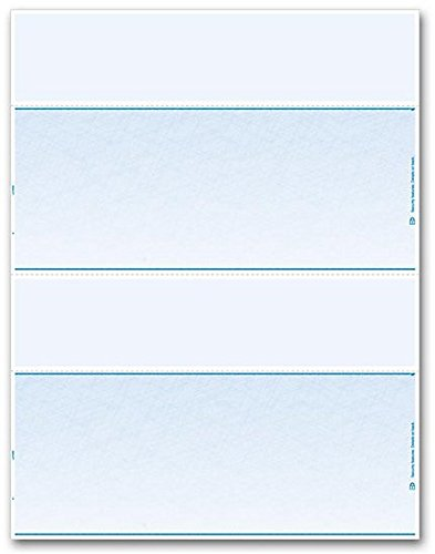 EGP Blank Laser Check Stock - Letter Size - Two Per Sheet (Blue), 500 Checks by EGPChecks