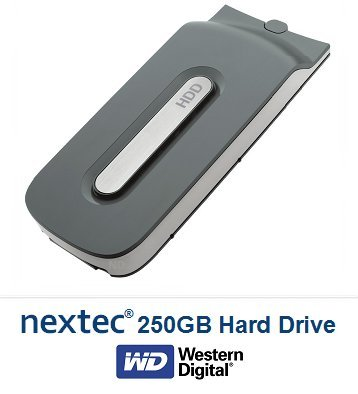 New - Xbox 360 FAT (250 GB) Hard Disk Drive HDD for Micro...