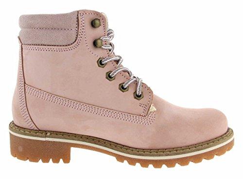 TAMARIS Damen Plateau High-Top Sneakers gefüttert Rosa LT.PINK NUBUC
