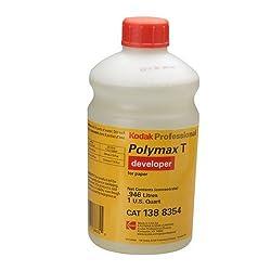 Kodak Polymax T Black & White Paper Developer, Liquid, 1 Quart Bottle.