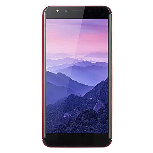 Ultrathin Unlock Phone,5.5 inch Dual SIM Dual HD Camera Smartphone Android 6.0 Octa-Core 512MB+4GB GSM 3G Phone (R15 Plus, Red) ()