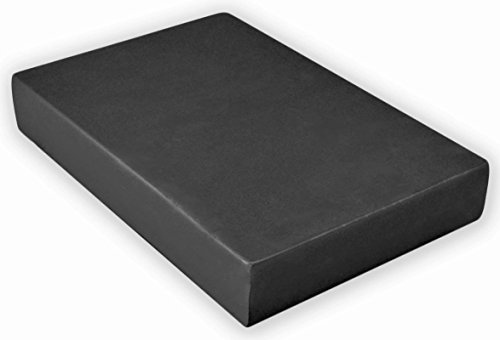 YogaAccessories 2'' Foam Yoga Brick - Black