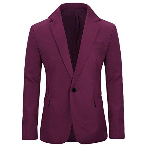 Chaquetas de hombre casuales Slim Fit Blazer One Button Suit Abrigo Solid Casual Top