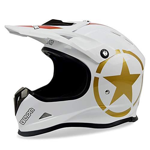 TKTTBD Motocross Helmet, Full-Face Helmets, Mountain Bike Off Road Motorbike Crash Helmet Full Face Adult Helmet for ATV/MX/BMX/Enduro/MTB-ECE Certification ()