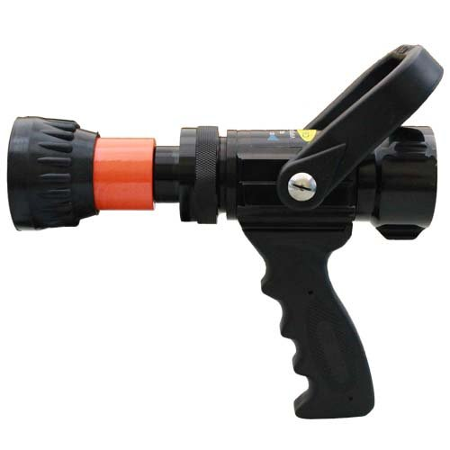 Alumium 1 1/2'' Orange NH Nozzle 60 Gallons Per Minute (GPM) with Durable Rubber Bumper by FireHoseDirect (Image #2)