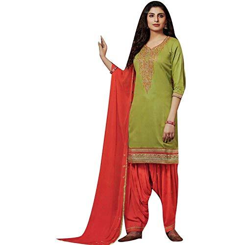 Ladyline Cotton Embroidered Patiala Salwar Kameez Women's ()