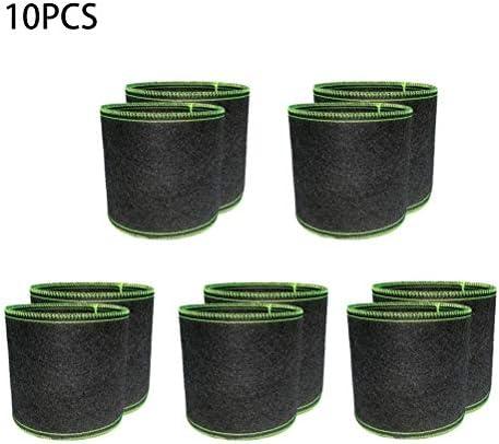 HEITIGN 10PCS植物成長バッグ通気性のある庭の成長バッグトマト生地の鉢植えじゃがいも・にんじん用ガーデンプランター容器、1ガロン