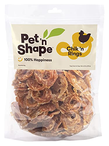 Pet 'n Shape Chik 'n Rings – Natural Chicken Breast Jerky Dog Treats, 2 Pound