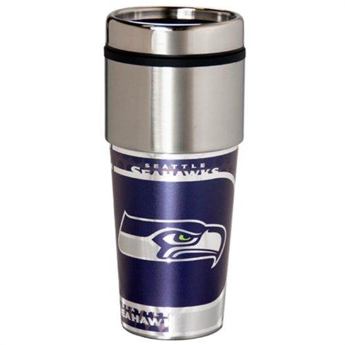 NEOPlex - Seattle Seahawks Travel Mug Tumbler ()