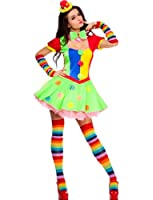 4 PC. Ladies Big Top Babe Clown Dress Costume