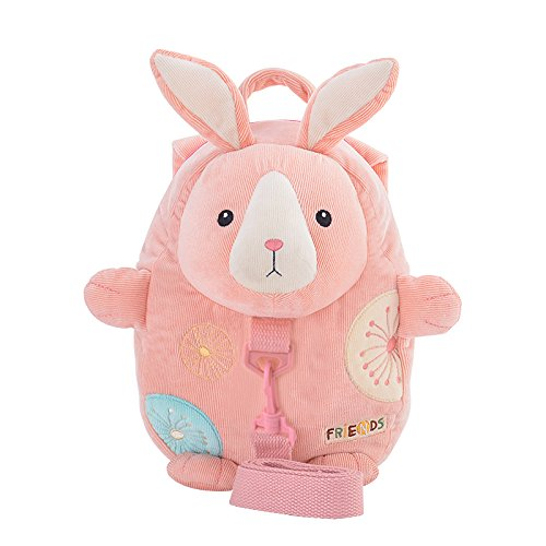 Me Too Plush Kids Backpack Child Leash Anti-lost Shoulder Bags Cartoon Easter Gifts (Pink Bunny)