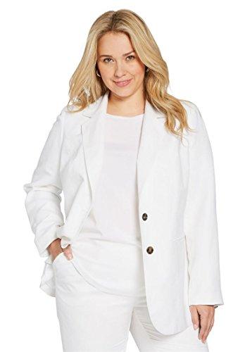 Jessica London Women's Plus Size Single-Breasted Linen Blaze