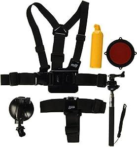 EEEKit 8-in-1 Accessories Kit for Gopro Hero4 Black/Silver Hero HD 3+/3/2/1 Camera
