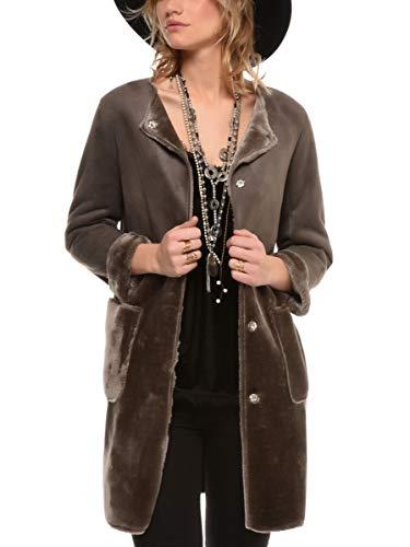 Manteau Femme 4 3 Taille Gris 38 Acrylique Couleur Fourré Arturo v7dfq7