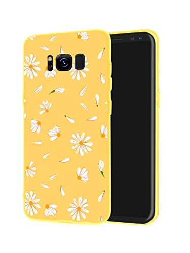JOYLAND Daisy Case for Galaxy S10 Yellow Case Skin Protection Slim fit Flexible Rubber Matte Flower Phone Case Shell Cover Compatible for Samsung Galaxy S10 (Yellow, Samsung Galaxy S10)