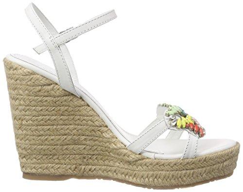 Sandalen Damen mit Keilabsatz Weiß Plateau Gaucho Weiß Apepazza Candy Bianco für qBnWStqFg