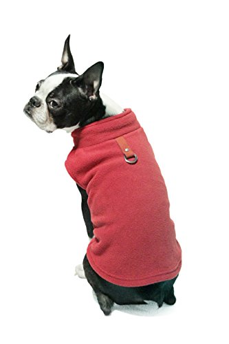 Picture of Gooby - Fleece Vest, Small Dog Pullover Fleece Jacket with Leash Ring, Red, Small