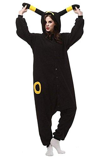 Mybei Unisex Adult Onesies Pajamas Umbreon,One-Piece Women Men Cosplay Costumes Yellow S -