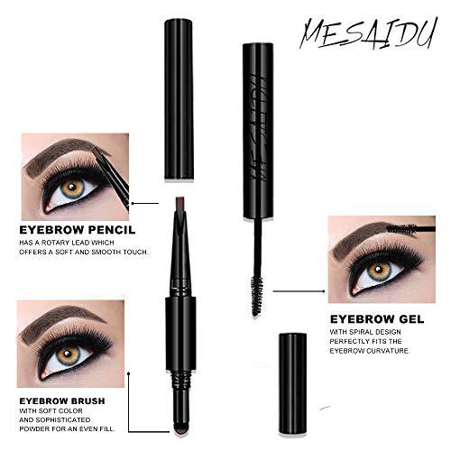 Mesaidu 3-in-1 Eye Makeup Eyebrow Pencil, Blender, Brush All