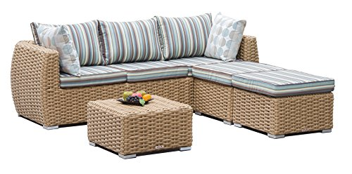 Light Colored Wicker Outdoor Furniture - 5